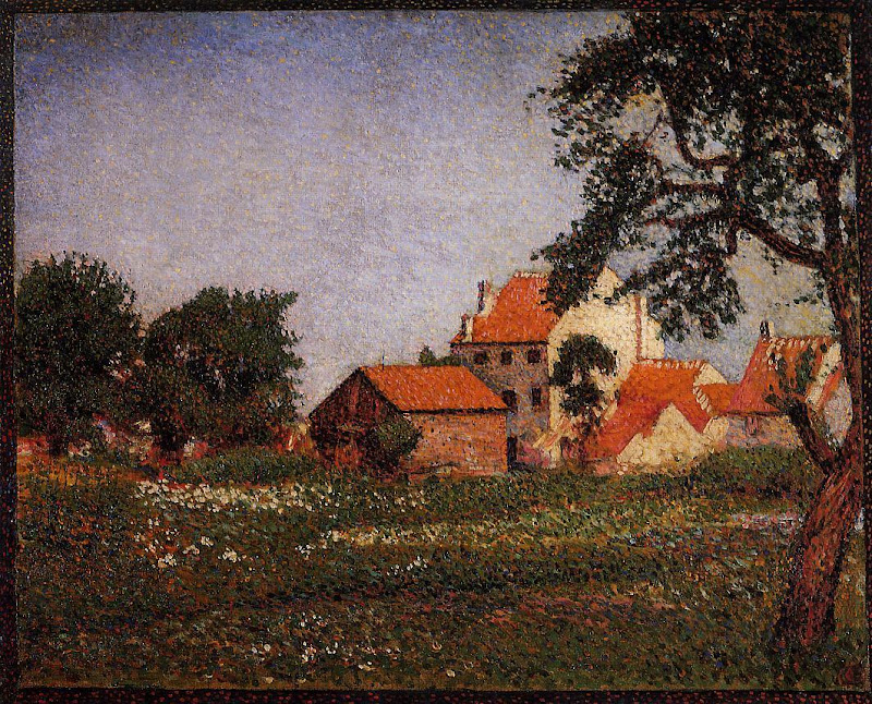 Georges Lemmen - Houses at La Hulpe