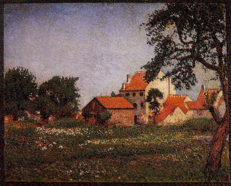 Georges Lemmen - Houses at La Hulpe
