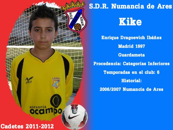 ADR Numancia de Ares. Cadetes 2011- 2012. KIKE.