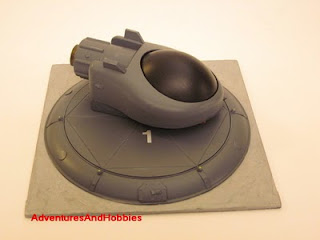 Tactical fighter right view Science Fiction war game terrain and scenery
