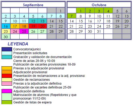 Calendario CLM