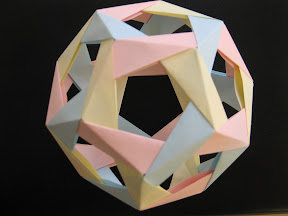 Dodecahedron made of Jim Plank's Penultimate Modules at http://www.cs.utk.edu/~plank/plank/pics/origami/penultimate/intro.html