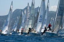 J/24s sailing in Livorno, Italy