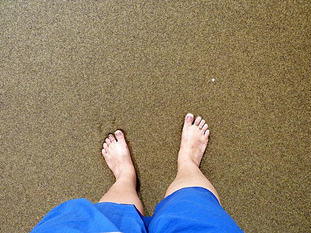 Sand on Floreana Island