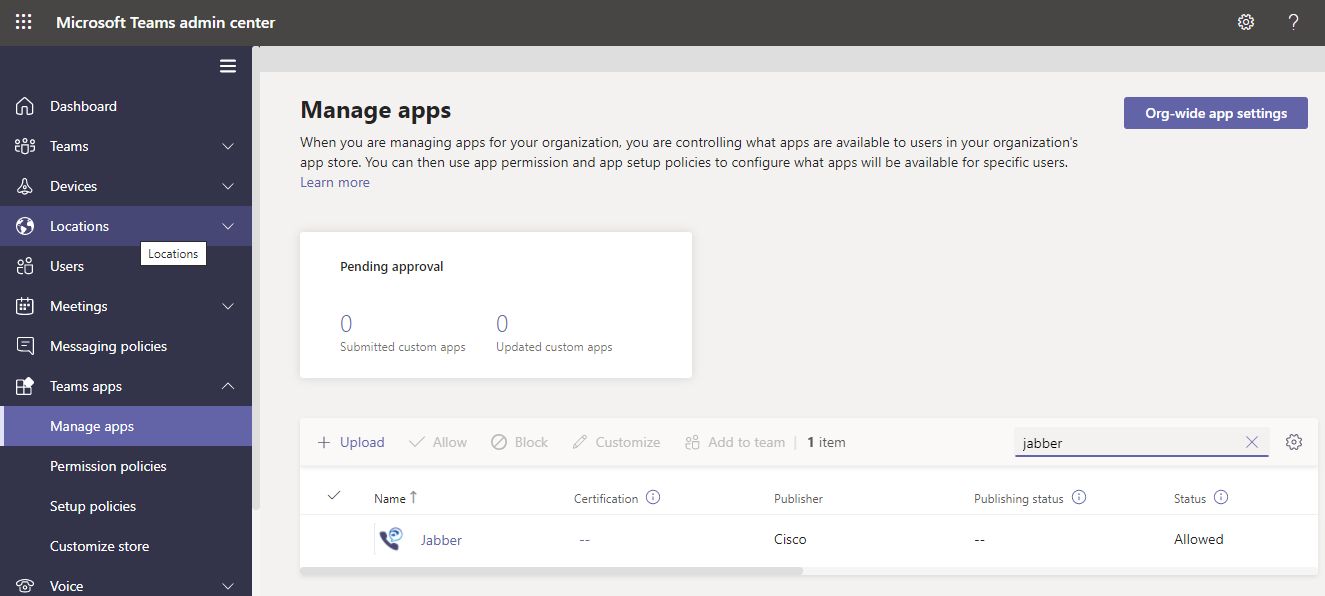 Connect Cisco Jabber and Microsoft Teams