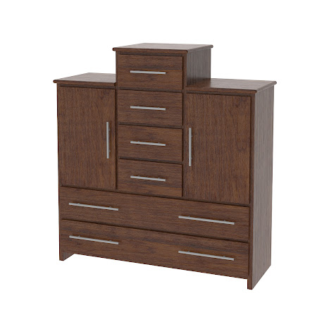 Waterfall Wardrobe Dresser, Wild Cherry