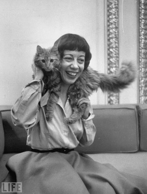 Imogene Coca and a cat