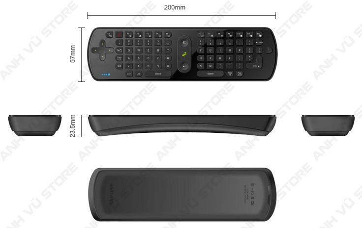 Measy RC11 Bàn phím chuột bay không dây cho Android TV Box 15