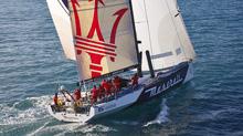 Volvo 70 MASERATI sailing under gennaker