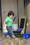LePort Private School Irvine - Baby exploring Montessori materials
