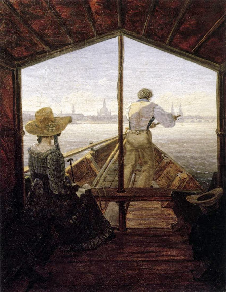 Carl Gustav Carus - A Gondola on the Elbe near Dresden