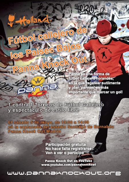 Torneo de fútbol callejero 'Panna Knock-out' en la explanada del Santiago Bernabéu