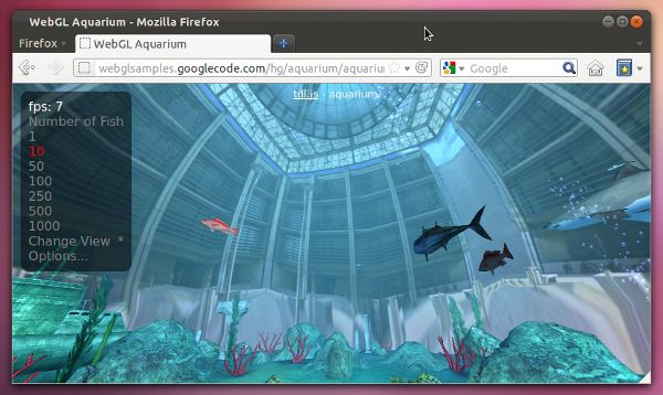 WebGL en Firefox Ubuntu 11.10