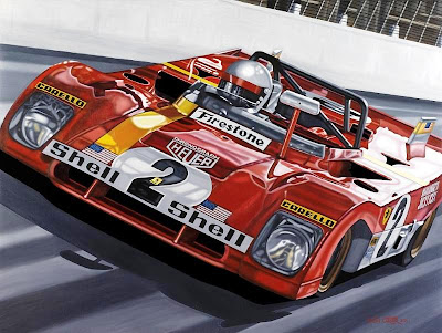 Victory Last Time Out / Mario Andretti 1972 / oil on canvas by Colin Carter