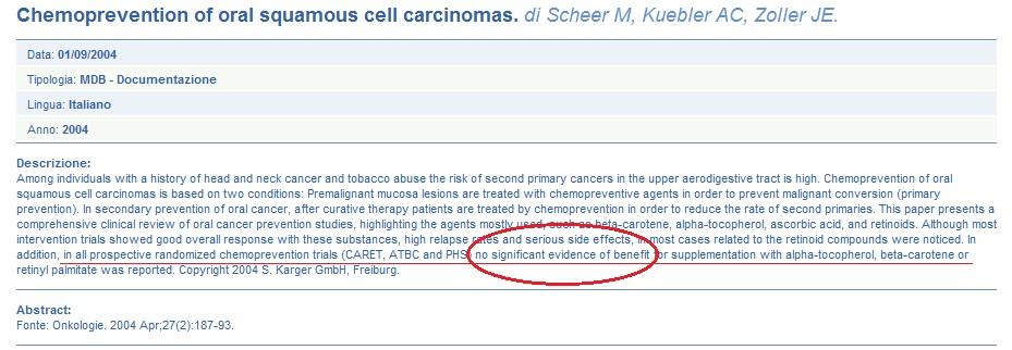 vendicare il carcinoma prostatico avanzato