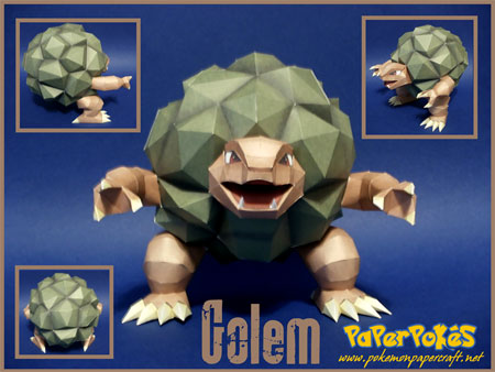 Pokemon Golem Papercraft