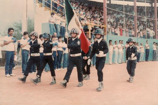 Pentathlón Deportivo Militarizado Universitario en el campeonato nacional de Ligas Pequeñas división menor de 1986