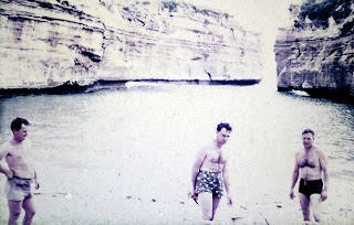 circa 1960 - at the Loch ard Gorge with the Underwaters Expolorers club - Dad Trevor Ryan on the left by him self