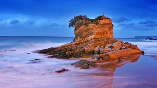 Playa del Camello Beach at Dusk, Santander. Cantabria, Spain.jpg