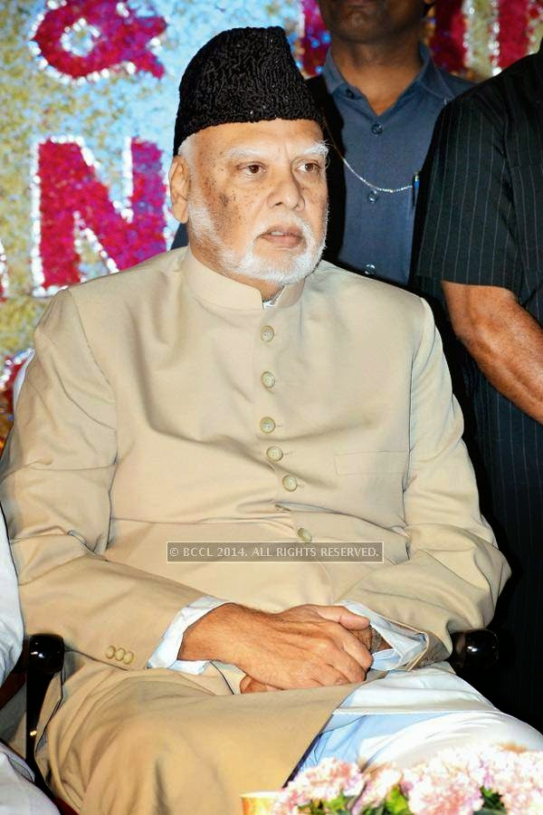 Mahboob Alam Khan during the iftaar party, held in Hyderabad.