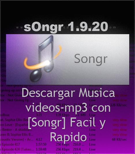 Songr 1.9.20 - Encuentra canciones y descarga