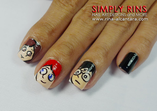 Harry Potter nail art design 01