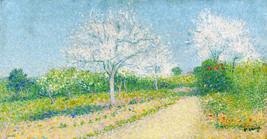 Achille Laugé - Almond Trees Blooming near Cailhau