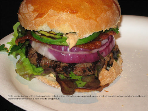 triple smoke burger for dinner saw the recipe yesterday and couldn t ...