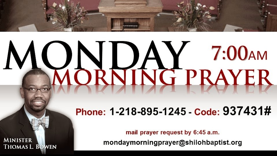 Monday Morning Prayer Flyer