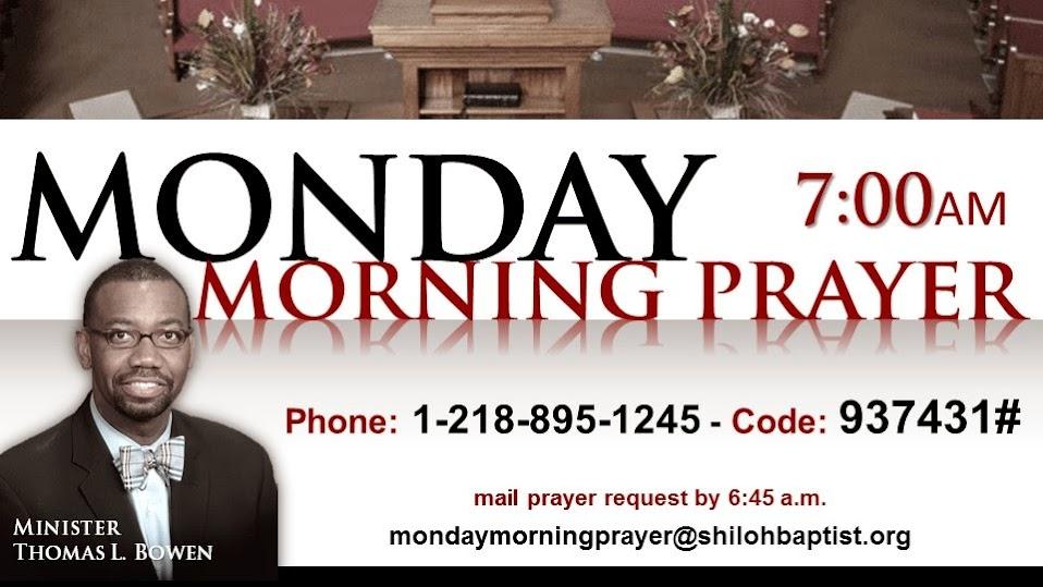 Monday Morning Prayer Flyer
