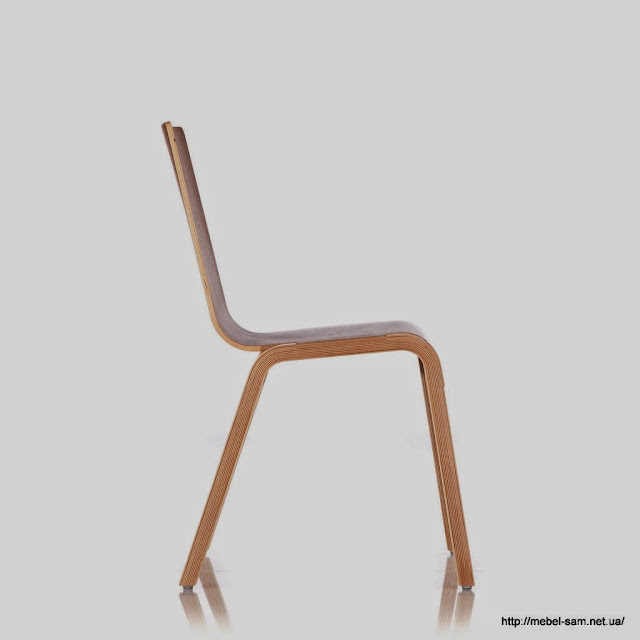 Фанерный стул Zipper Chair - вид сбоку