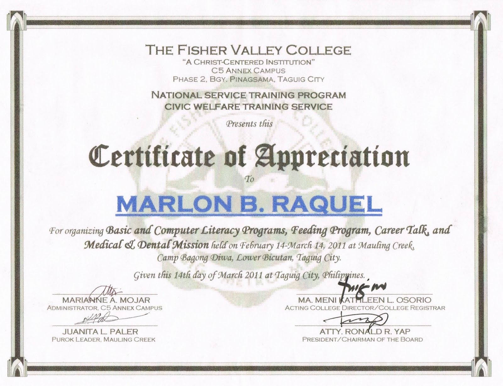 Certificate Of Appreciation Years Of Service | Search ...