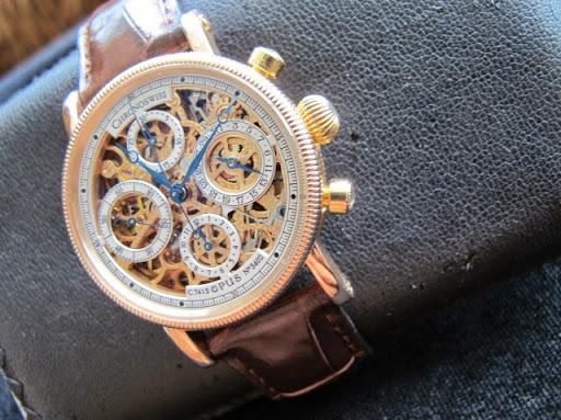 bán đồng hồ chronoswiss skeleton – vàng hồng 18k – size 38mm – CH 7521R