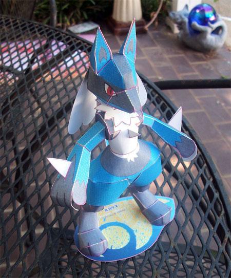 Pokemon Lucario Papercraft 3 Chokipeta