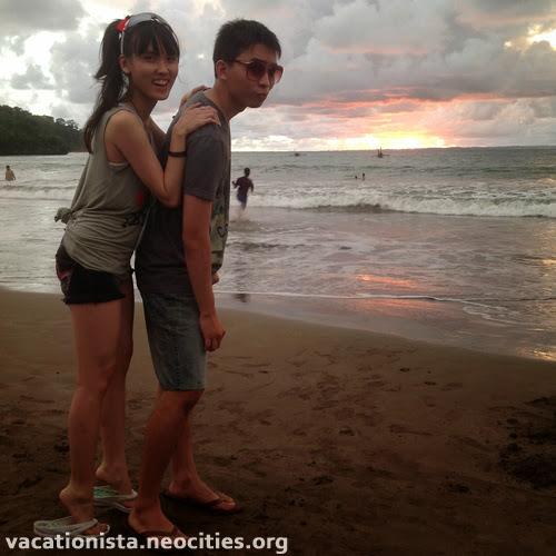 Luke and Alexia on the beach