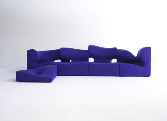 Moroso's MISFITS sofa by Ron Arad. Structure