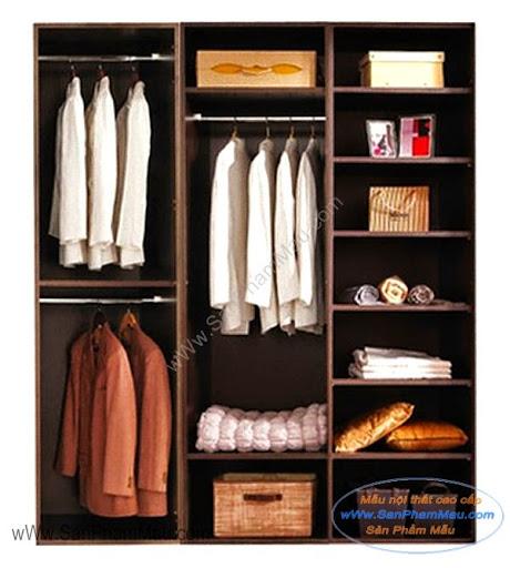 Chia tủ quần áo để đồ