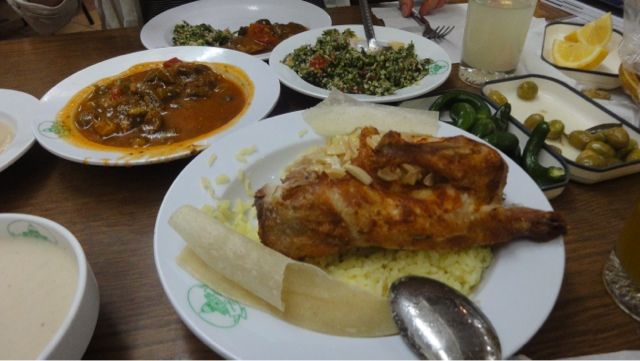 Mansaf and other dishes on the table