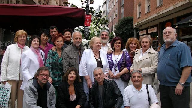 Algunos de los participantes en el homenaje a Blas de Otero en Bilbao el 29 de junio de 2011