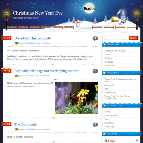 Christmas New Year Eve,blogger,Templates for blogger