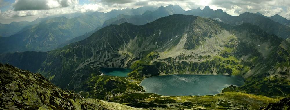 Dolina Pięciu Stawów Polskich z Koziego Wierchu
