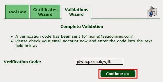 Código de verificação