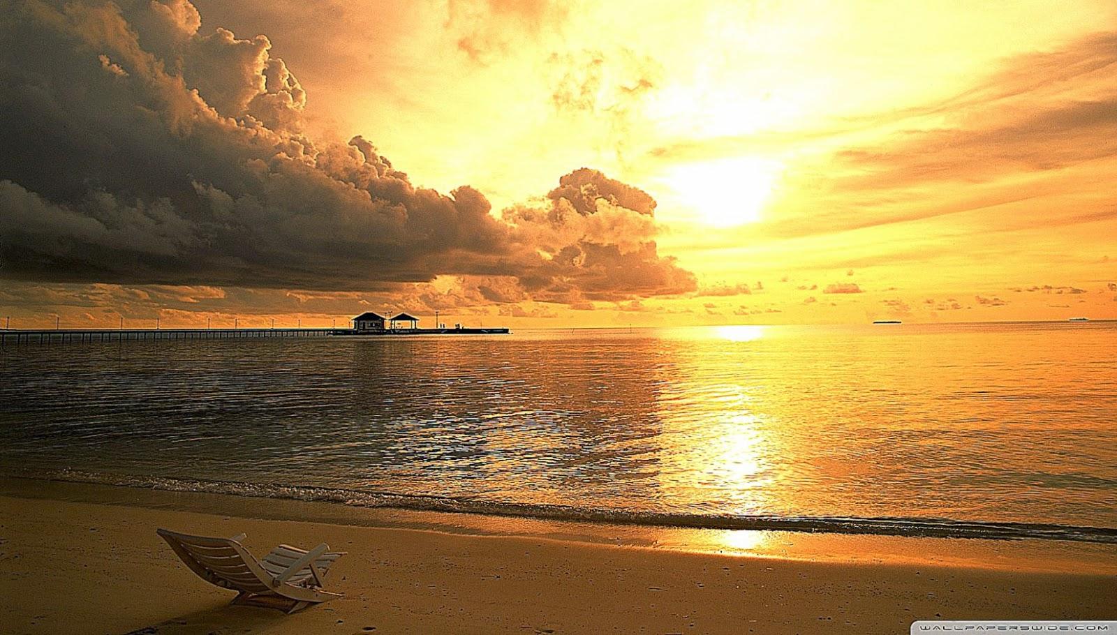 Golden Beach Hd Wallpaper