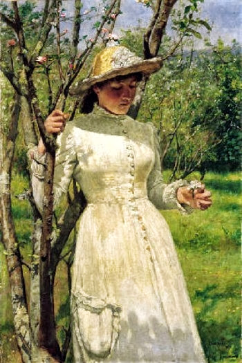 Edwin Harris - Under The Blossom 1884