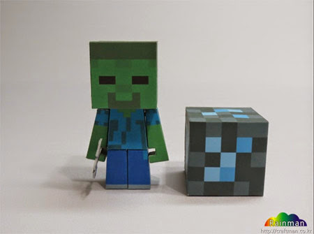 Minecraft Zombie Papercraft