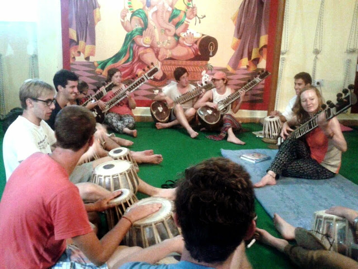 Indian Classical Music Lesson being taught to students