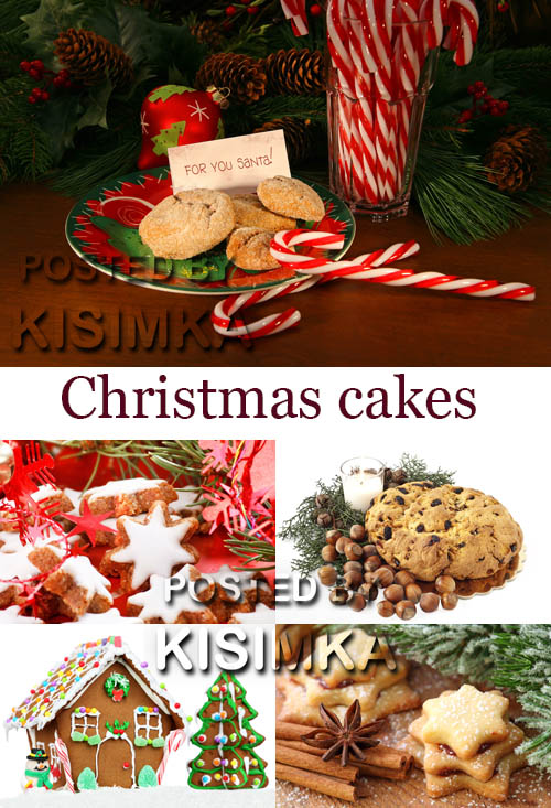 Stock Photo: Christmas cakes 12