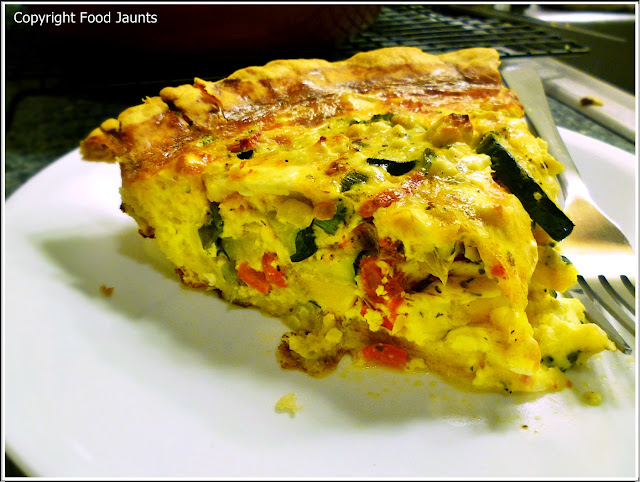 Vegetable and 3 Cheese Quiche