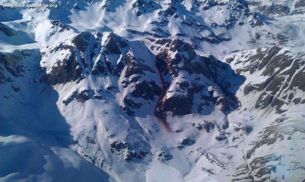 Avalanche Haute Maurienne, secteur Ouille de la Jave, Couloir de la Fleuria - Photo 1