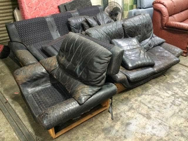 原木皮沙發